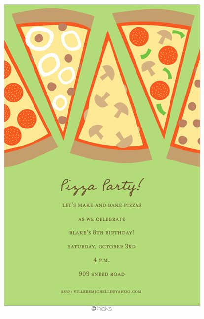 Pizza Party Invites Template Best Of Pizza Party Invitation Wording