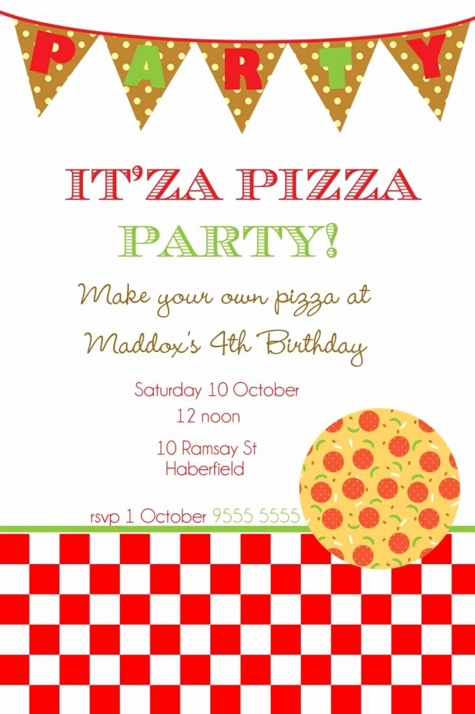 Pizza Party Invites Template Elegant Free Printable Flyer Templates Invitation Templates