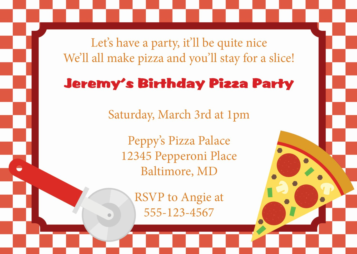 Pizza Party Invites Template Lovely Pizza Party Invitation Invite Diy Printable