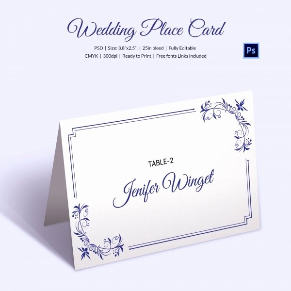 Place Card Size Template Beautiful 25 Wedding Place Card Templates
