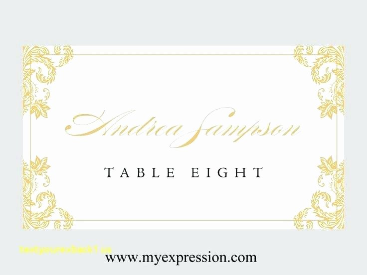 Place Card Size Template Best Of Table Name Cards Template Card Publisher Wedding Place