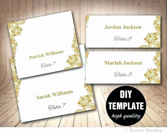 Place Card Template Wedding Awesome Fold Over Place Card Template Cards Word Label for Folded