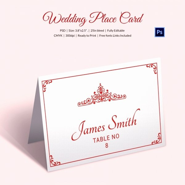 Place Card Template Wedding Beautiful 25 Wedding Place Card Templates