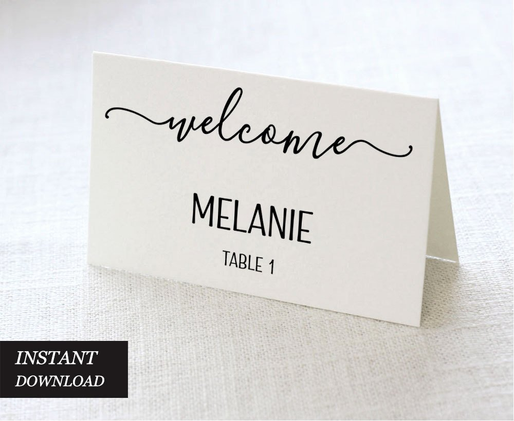 Place Card Template Wedding Best Of Wedding Place Cards Wedding Place Card Printable Place Card