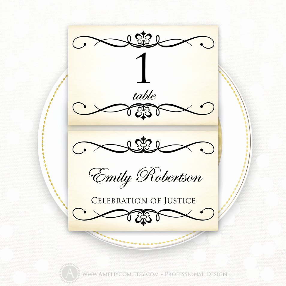 Place Card Template Wedding Elegant Place Card Printable Template Wedding Instant Download Diy
