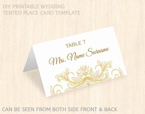 Place Card Template Wedding Fresh Printable Wedding Place Card Templatename Place Cardeditable