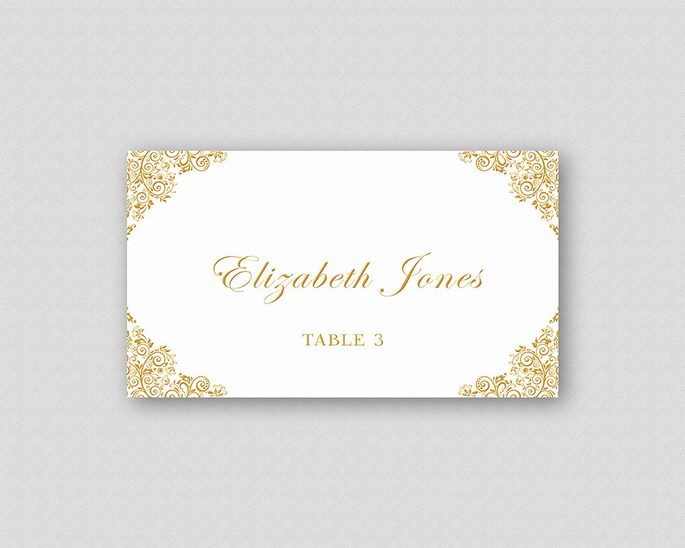 Place Card Template Wedding Luxury Gold Wedding Place Card Template Printable Wedding Place