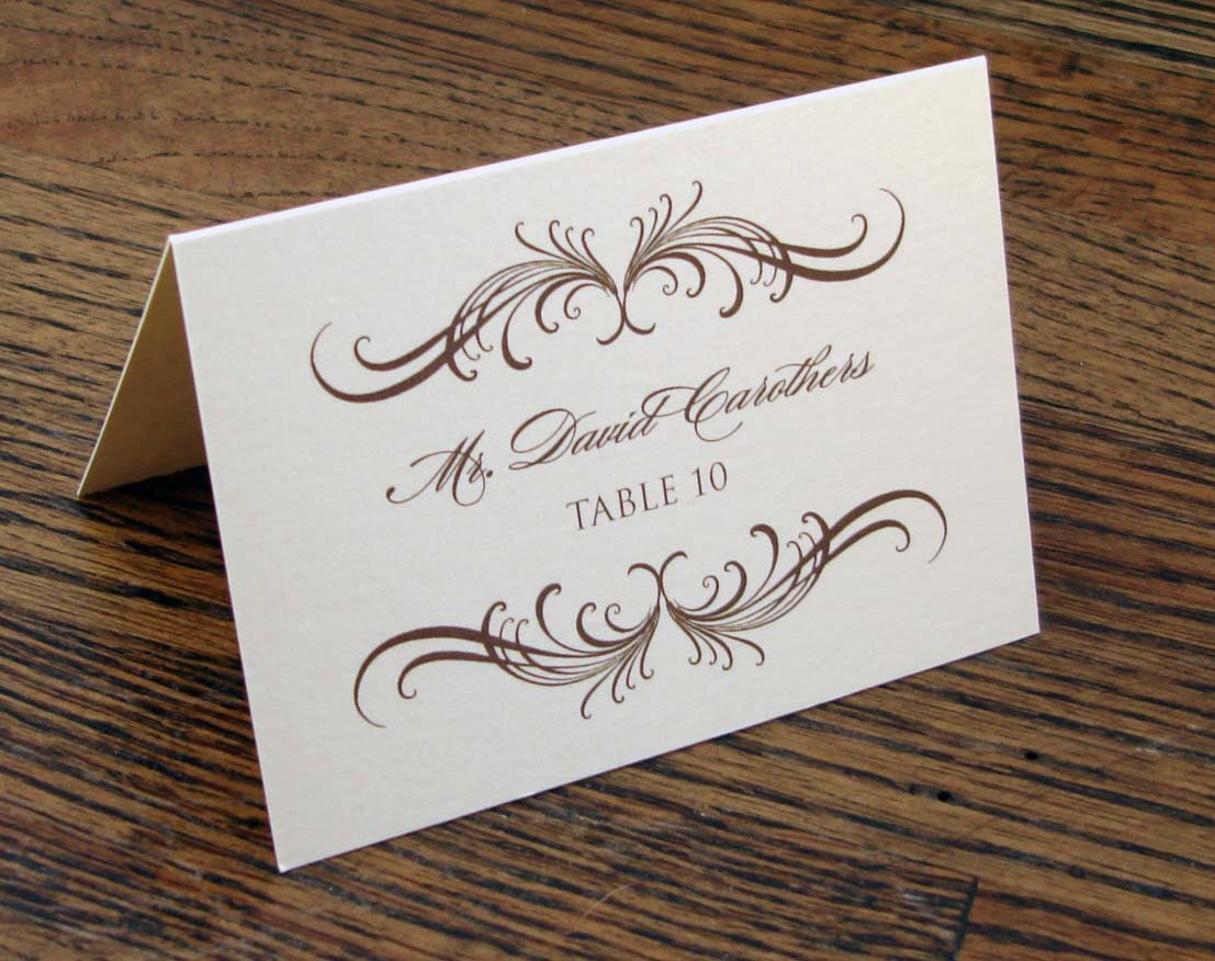 Place Card Template Wedding New 8 Best Of Wedding Name Cards Printable Wedding