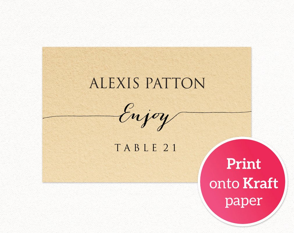 Place Card Template Wedding New Wedding Place Card Templates · Wedding Templates and