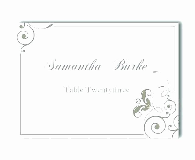 Place Card Template Wedding Unique Free Printable Table Numbers Size Number