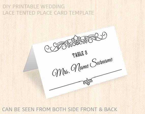 Place Cards Template Wedding Beautiful Printable Wedding Place Card Template Name Place Card