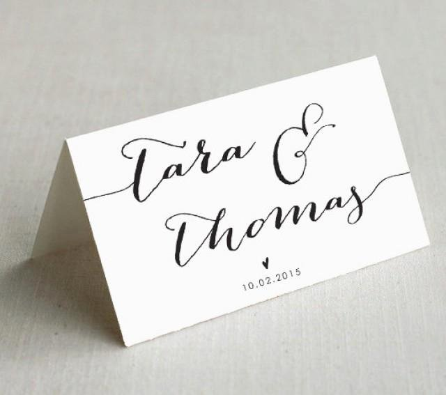 Place Cards Template Wedding Best Of Printable Wedding Place Cards Custom Wedding Name Cards