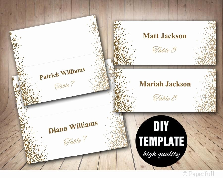 Place Cards Template Wedding Elegant Printable Placecards Place Cards Wedding Gold Wedding