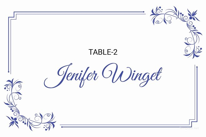 Place Cards Template Wedding Fresh 25 Wedding Place Card Templates