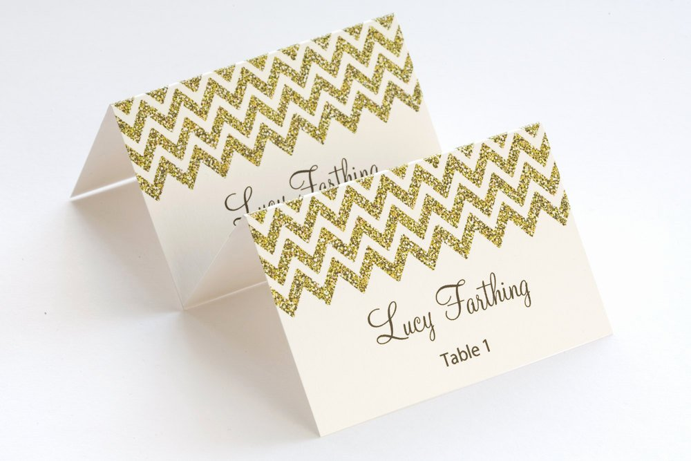 Place Cards Template Wedding Inspirational Gold Place Card Template Chevron Name Cards Diy