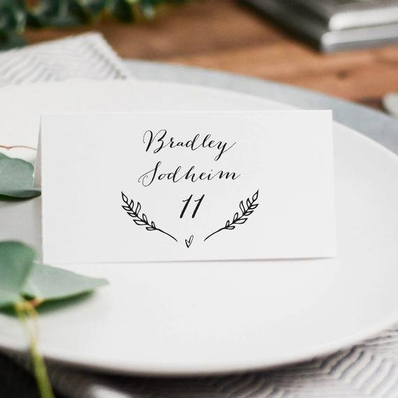 Place Cards Template Wedding Inspirational Rustic Wedding Place Cards Template Printable Wedding Place