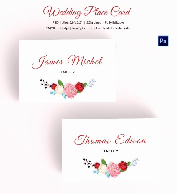 Place Cards Template Wedding Luxury 25 Wedding Place Card Templates