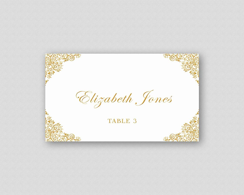 Place Cards Template Wedding Luxury Gold Wedding Place Card Template Printable Wedding Place