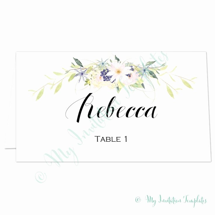 Place Cards Template Wedding Unique 1000 Ideas About Place Card Template On Pinterest
