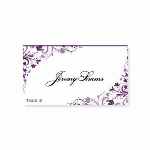 Place Cards Template Wedding Unique Instant Download Wedding Place Card by Diyweddingtemplates