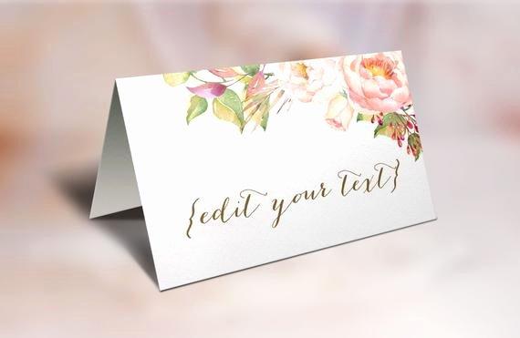 Place Cards Template Wedding Unique Printable Place Cards Wedding Place Cards Floral Place Cards