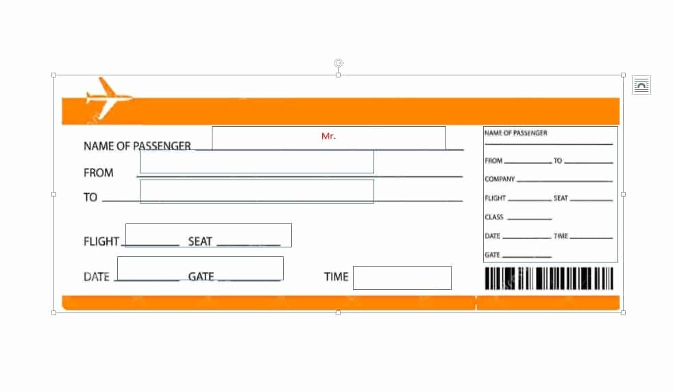 Plane Ticket Template Pdf Awesome 16 Real & Fake Boarding Pass Templates Free