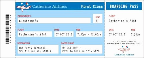 Plane Ticket Template Pdf Best Of 27 Best Airline Boarding Pass Ticket Template Examples