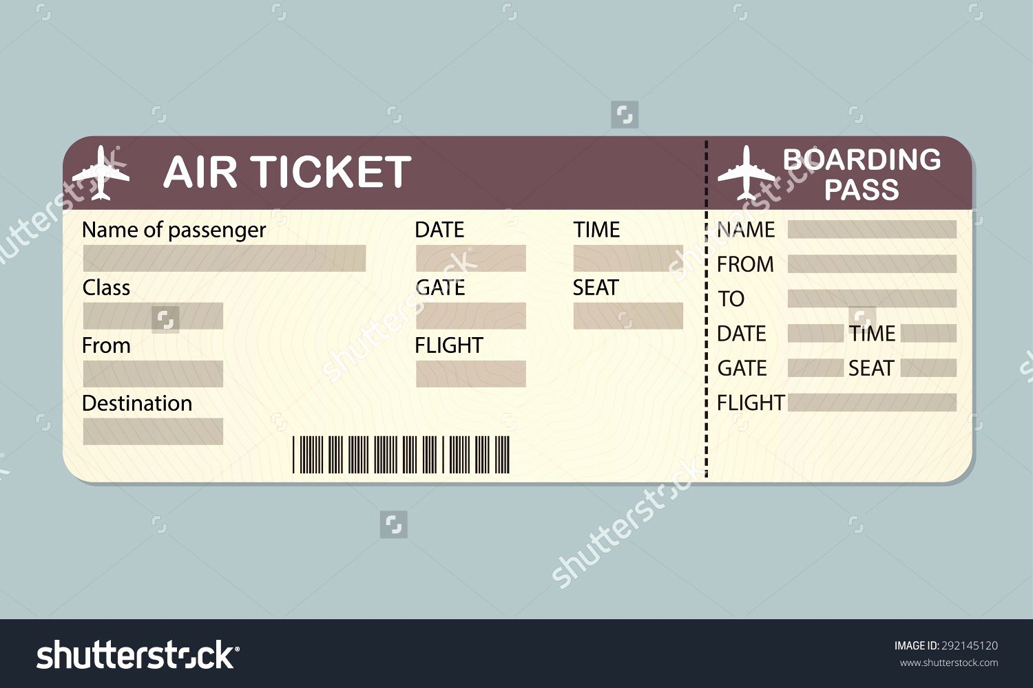 Plane Ticket Template Pdf Best Of Airplane Ticket Template Example Mughals