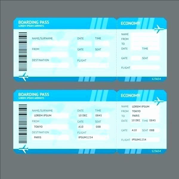 Plane Ticket Template Pdf Best Of Plane Ticket Template Pdf Fresh Boarding Pass Template