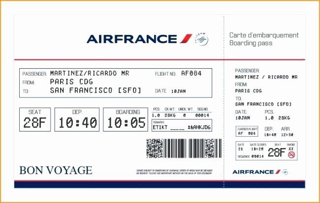 Plane Ticket Template Pdf Best Of Printable Boarding Pass Template Flight Ticket format Pdf