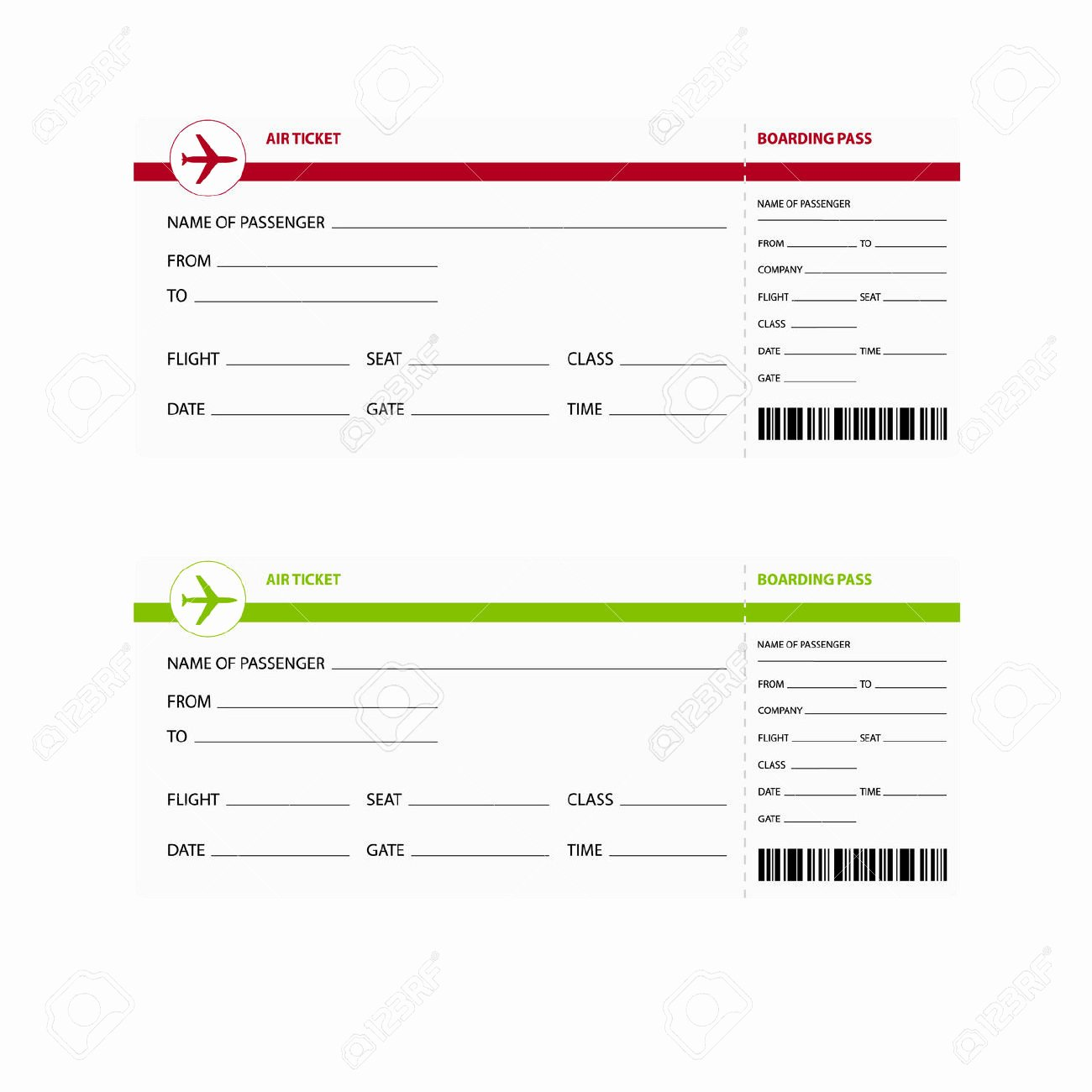 Plane Ticket Template Pdf Elegant Airplane Ticket Template Example Mughals