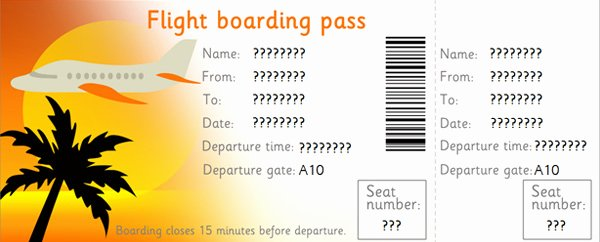 Plane Ticket Template Pdf Inspirational 27 Best Airline Boarding Pass Ticket Template Examples