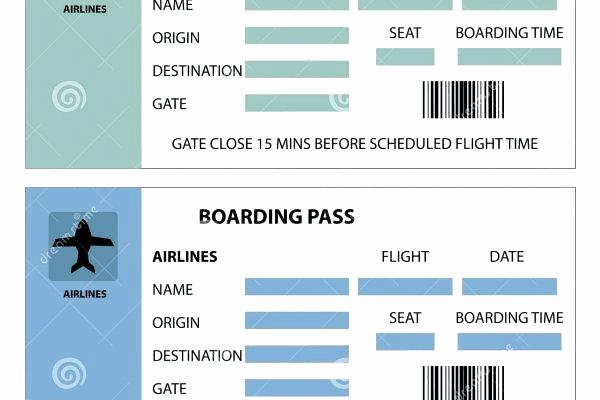 Plane Ticket Template Pdf Inspirational Plane Ticket Template Word Blank Printable Flight Airplane