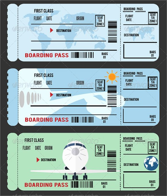 Plane Ticket Template Pdf Lovely 10 Boarding Pass Samples