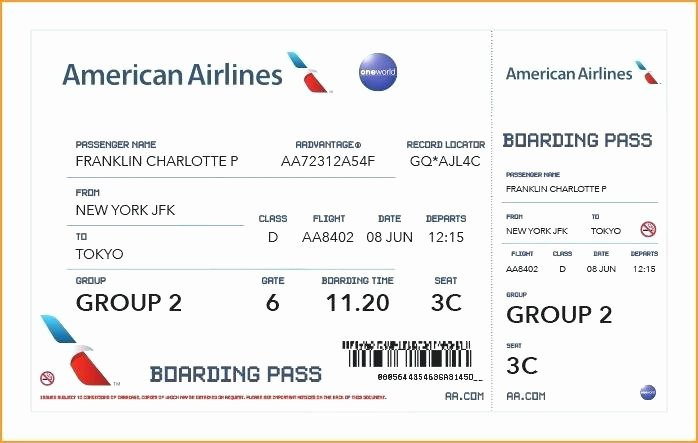 Plane Ticket Template Pdf Lovely Emirates Boarding Pass Template – Cassifields