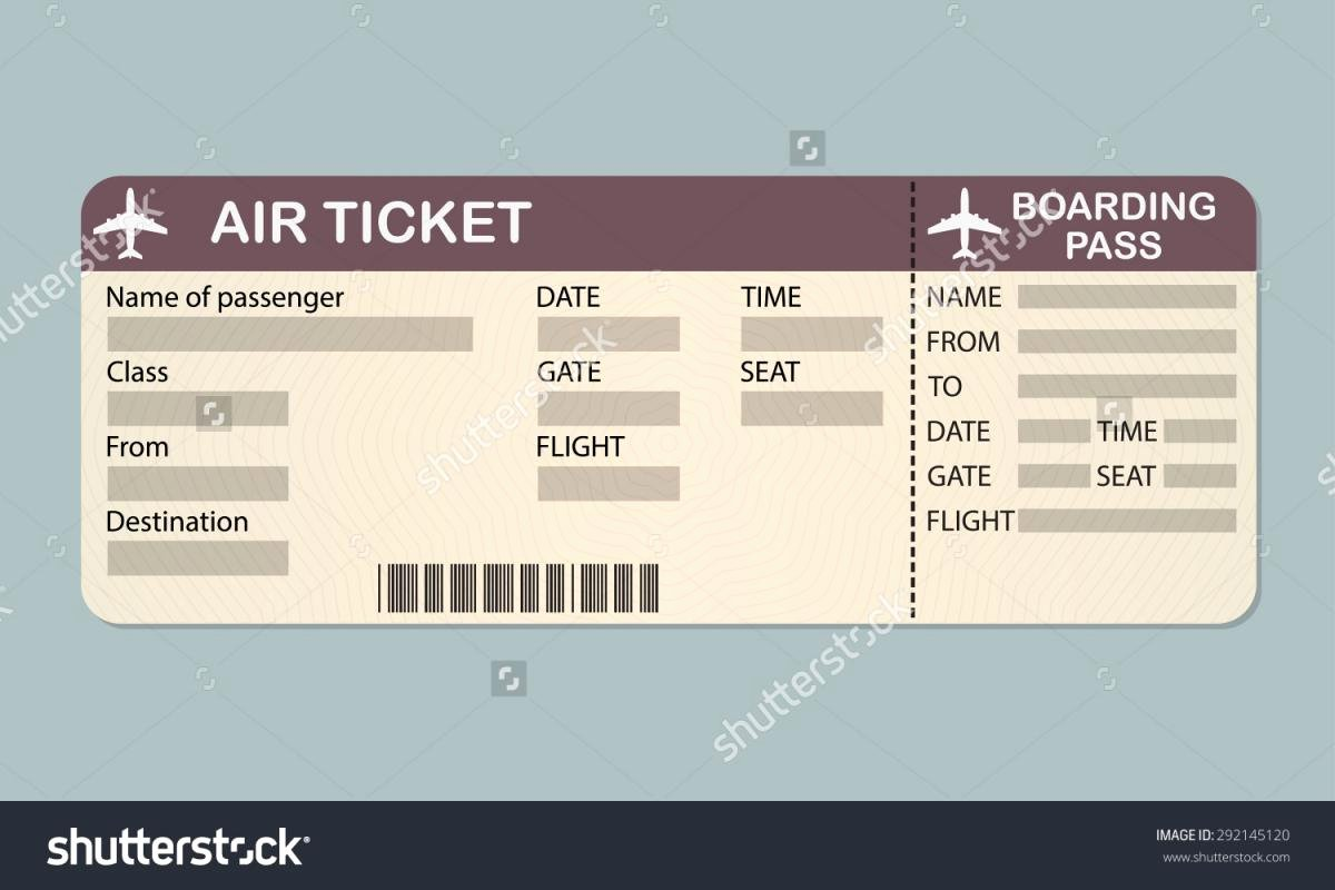 Plane Ticket Template Pdf Lovely Plane Ticket Template