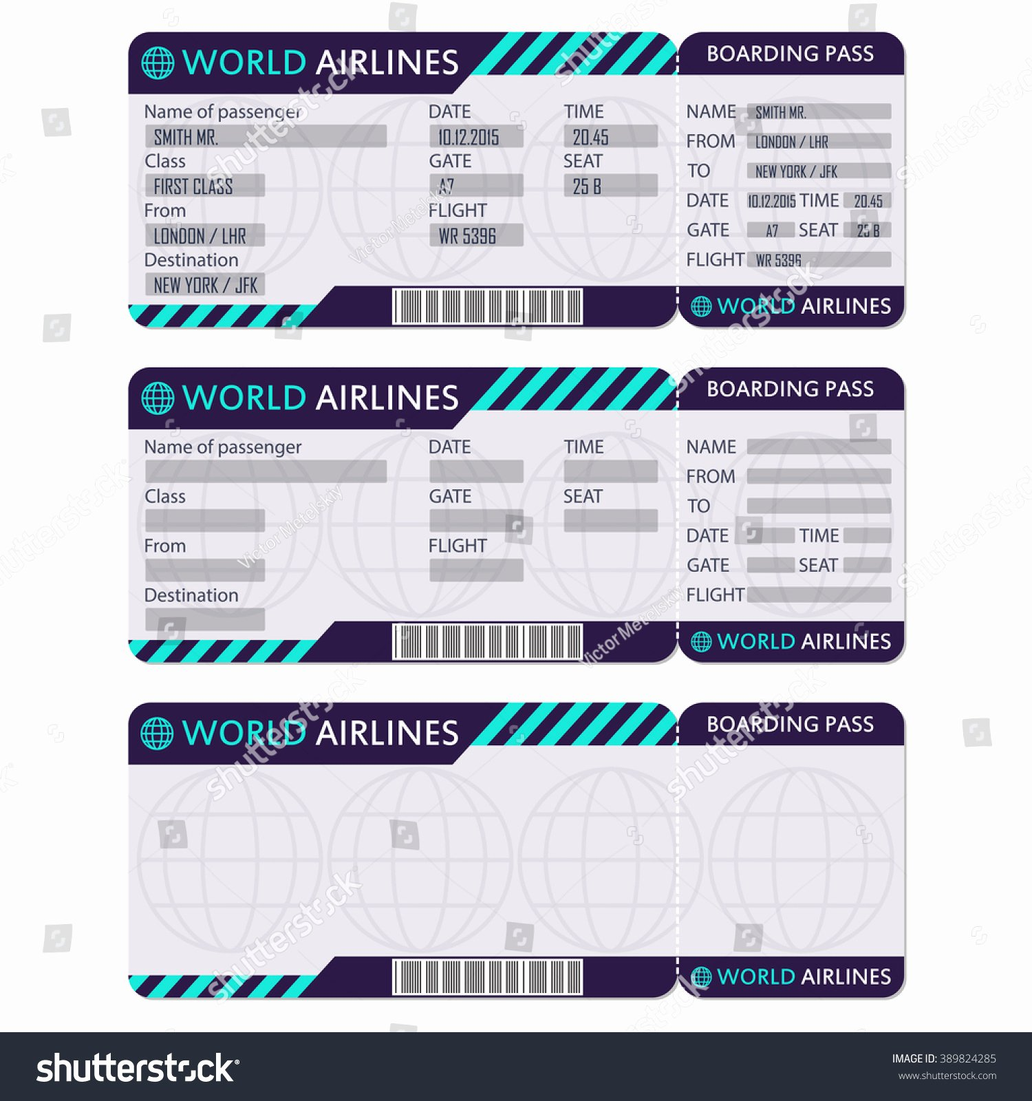 Plane Ticket Template Pdf Lovely Sample Boarding Pass 9 Documents In Pdf Psd Vector