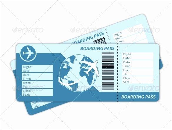 Plane Ticket Template Pdf Luxury 115 Ticket Templates Word Excel Pdf Psd Eps
