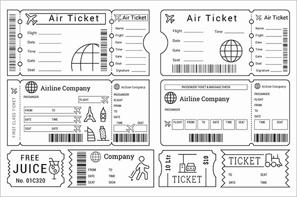 Plane Ticket Template Pdf New 115 Ticket Templates Word Excel Pdf Psd Eps