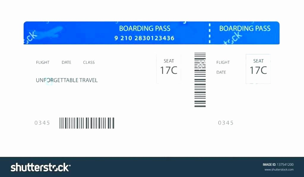 Plane Ticket Template Pdf Unique Air Ticket Template Free Download Airline Tickets