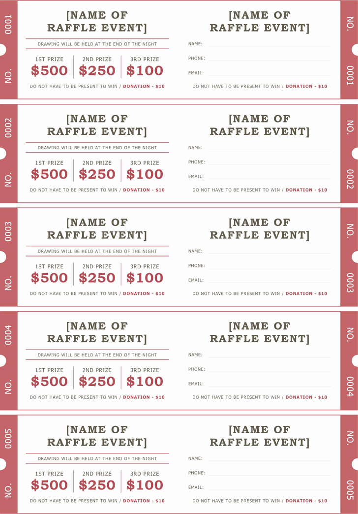 Plate Sale Tickets Template Luxury Raffle Ticket Template 2 Positively Printable