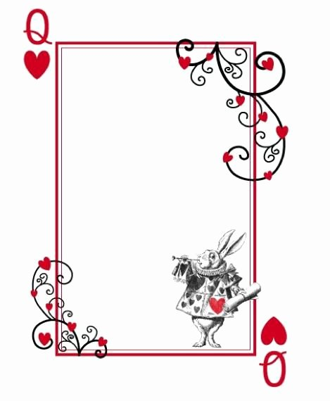 Playing Card Design Template Beautiful 12 Cool Mad Hatter Tea Party Invitations