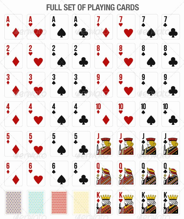 Playing Card Design Template Luxury 13 Vector Playing Card Template Free Vector