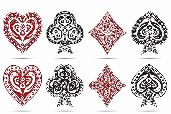 Playing Card Design Template Unique Playing Cards Symbols Icons On Creative Market