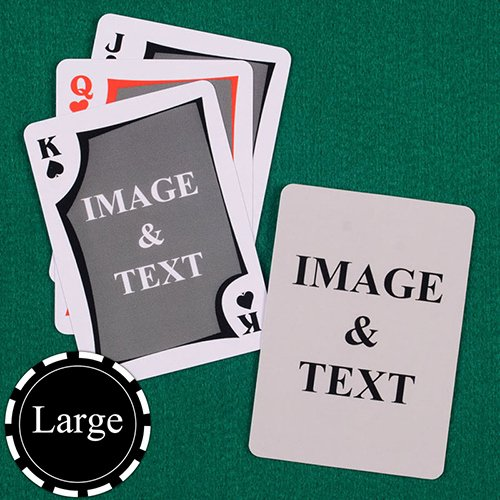 Playing Card Size Template Beautiful Size Modern Custom Front and Back Playing Cards