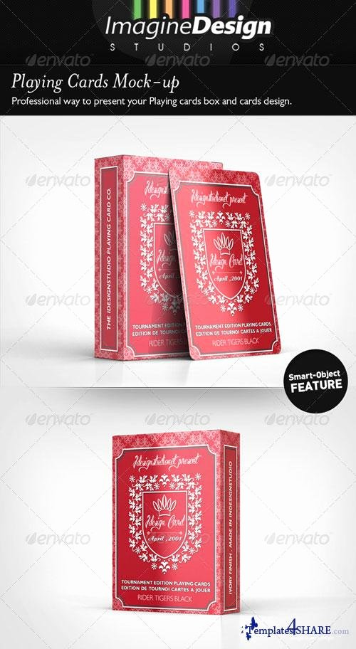 Playing Card Template Photoshop Best Of Graphicriver Playing Cards Mock Up Templates4share