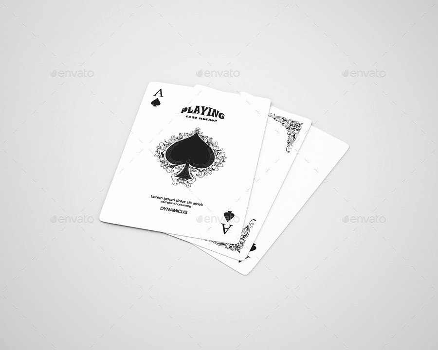 Playing Card Template Photoshop Elegant 7 Best Playing Card Mockup Psd to Showcase Poker and