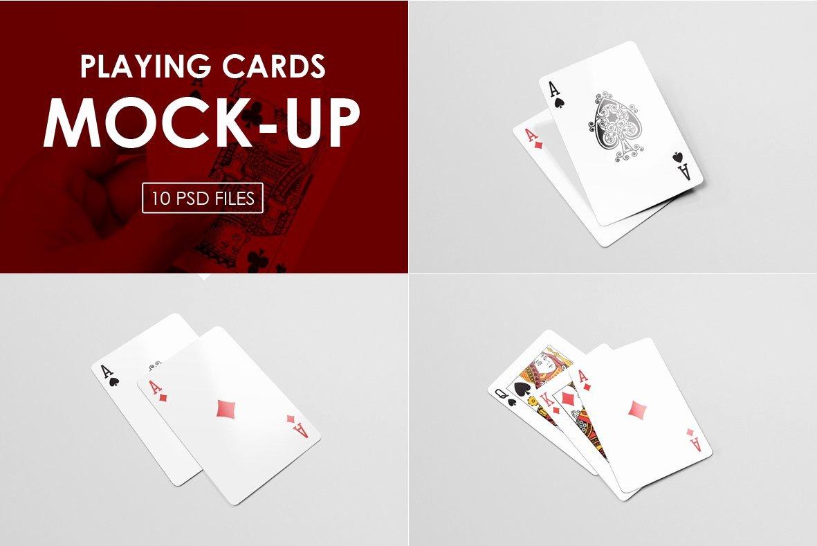 Playing Card Template Photoshop Elegant Playing Cards Mock Ups Print Mockups Creative Market