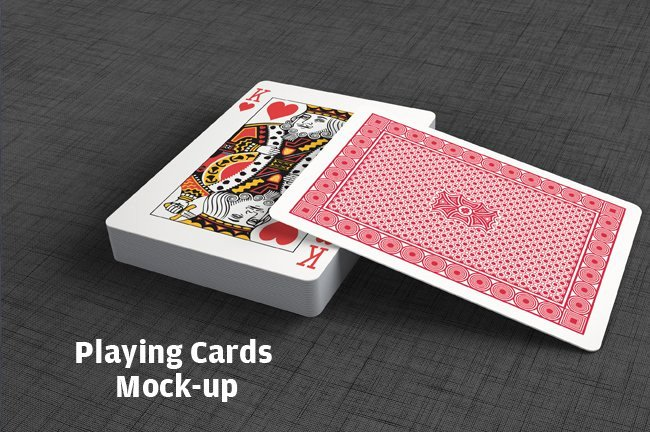 Playing Card Template Photoshop Fresh Playing Cards Mock Up Print Mockups Creative Market