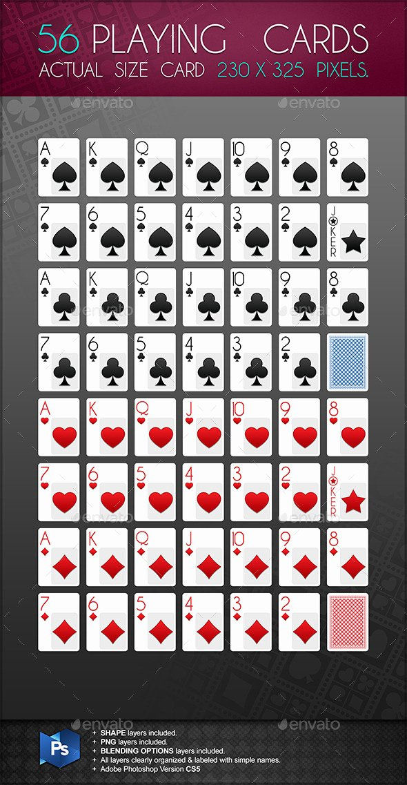 Playing Card Template Photoshop New Playing Card Template for Shop Dondrup